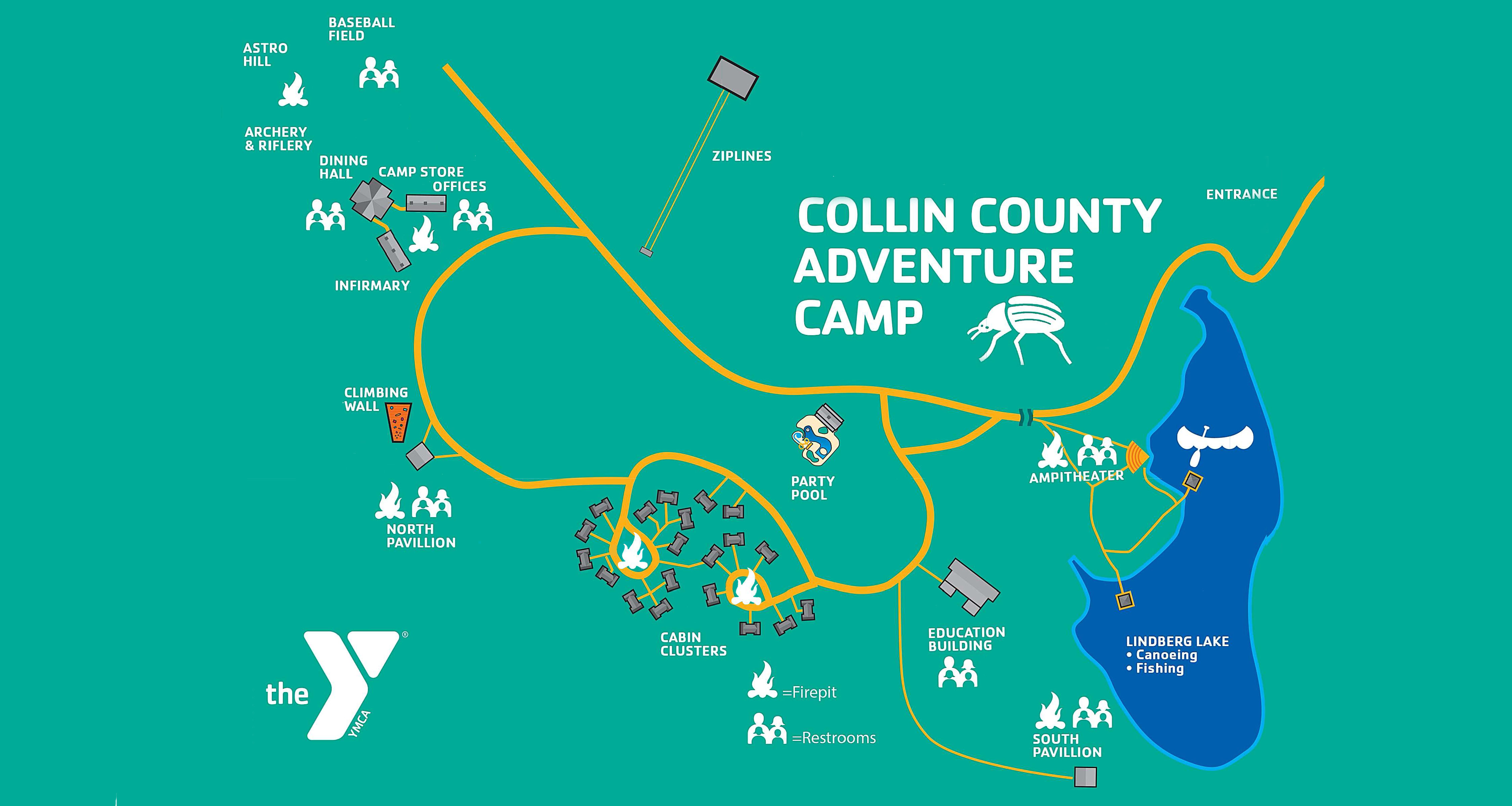 Map of Collin County Adventure Camp